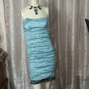 NICOLE MILLER Strapless Mini Dress